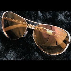 Michael Kors Sunglasses Chelsea Pink&GoldFlashLens